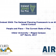 Session 1: Ireland 2040: Feeding into the National Planning Framework People & Place: The Current State of Play Mr. Justin Gleeson, Director, All Island Research Observatory PDF
