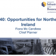 Session 1:  Ireland 2040: Feeding into the National Planning Framework 2040: Opportunities for Northern Ireland Ms. Fiona McCandless, Chief Planner, Department for Infrastructure PDF